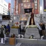 白ひげとエースの墓が新宿アルタ前に!海賊無双3試遊イベントにて登場。